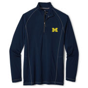Tommy Bahama University of Michigan Navy ''Goalkeeper'' 1/2 Zip Pullover