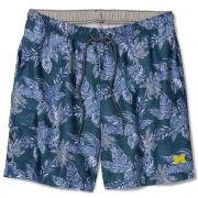 Tommy Bahama University of Michigan Blue Note Faded Palms Naples Coast Swim Trunks
