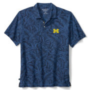 Tommy Bahama University of Michigan Blue Note Leafback IslandZone Polo
