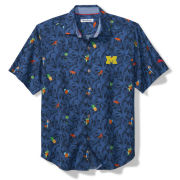 Tommy Bahama University of Michigan Blue Note ''Beach-cation'' Camp Shirt