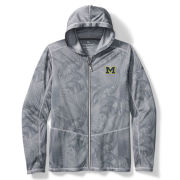 Tommy Bahama University of Michigan Arctic Sport Forte Fronds IslandActive Full Zip Hooded Sweatshirt