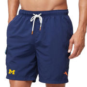 Tommy Bahama University of Michigan Naples Coast Blue Swim Trunks