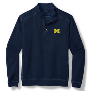 Tommy Bahama University of Michigan Navy Sport Nassau Half-Zip Sweatshirt