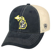 Top of the World University of Michigan State of MI Vault Wolverine Mesh Hat