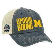 Top of the World University of Michigan Baseball College World Series ''Omaha Bound'' Meshback Hat