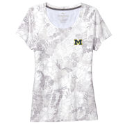Tommy Bahama University of Michigan Women's White Peeky Fronds Seaport Tee