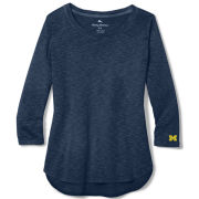 Tommy Bahama University of Michigan Women's Navy Ashby Rib 3/4 Sleeve Tee