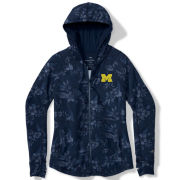Tommy Bahama University of Michigan Women's Navy Basta Blossms Full Zip Hooded Sweatshirt