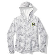 Tommy Bahama University of Michigan Women's White Basta Blossms Full Zip Hooded Sweatshirt
