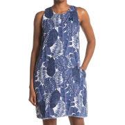Tommy Bahama University of Michigan Women's Frondly Fan Linen Dress