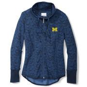 Tommy Bahama University of Michigan Women's Navy ''Shall We Dance'' Full Zip Sweatshirt