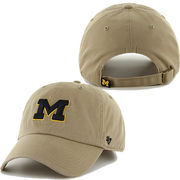 '47 Brand University of Michigan Khaki Cleanup Basic Slouch Hat