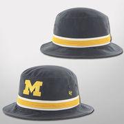 '47 Brand University of Michigan Navy Striped Bucket Hat