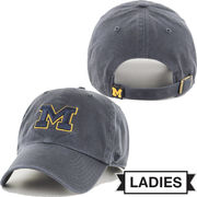 '47 Brand University of Michigan Ladies Charcoal Gray Clean-Up Slouch Hat