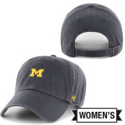 '47 Brand University of Michigan Women's Washed Navy Small Block ''M'' Base Runner Clean-Up Hat