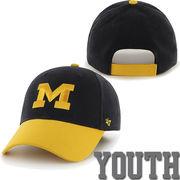 '47 Brand University of Michigan Youth Navy/ Yellow Short Stack Hat