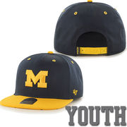 '47 Brand University of Michigan Youth Navy/ Yellow Snapback Hat