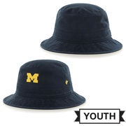 '47 Brand University of Michigan Youth Navy Bucket Hat