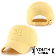 47 Brand University of Michigan Youth Girls Maize Tonal Clean-Up Hat