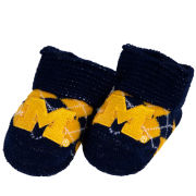 Two Feet Ahead University of Michigan Infant Navy Argyle Bootie Socks