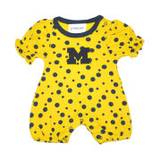 Two Feet Ahead University of Michigan Infant Polka Dot Romper