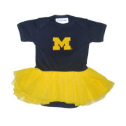 Two Feet Ahead University of Michigan Infant Navy Tutu Romper Onesie