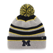 '47 Brand University of Michigan Gray ''Whitman'' Cuffed Pom Knit Hat