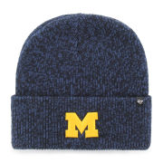 '47 Brand University of Michigan Navy ''Brain Freeze'' Cuffed Knit Hat