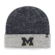 '47 Brand University of Michigan ''Hailstone'' Navy/ Gray Cuffed Knit Hat