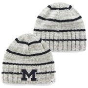 '47 Brand University of Michigan McMahon Gray Striped Faux Cuff Knit Hat