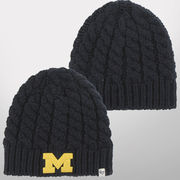 '47 Brand University of Michigan Ladies Newbury Navy Cable Knit Hat