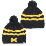 '47 Brand University of Michigan Ladies Navy Kendall Knit Pom Hat