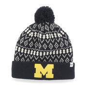 '47 Brand University of Michigan Ladies Eileen Cuffed Pom Knit Hat