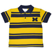 Two Feet Ahead University of Michigan Toddler Rugby Striped Polo Shirt