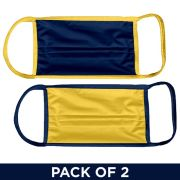 UGP 2 Pack Navy and Yellow Facemasks