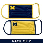 UGP University of Michigan 2 Pack Navy and Yellow Facemasks