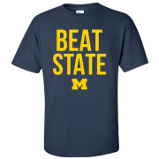 University of Michigan Football Navy ''Beat State'' Tee