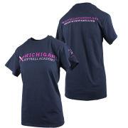 8f2a5b4d74a University of Michigan Softball Navy Academy Tee