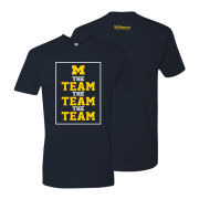 Bo Schembechler Brand University of Michigan ''The Team, The Team, The Team'' Navy Banner Tee
