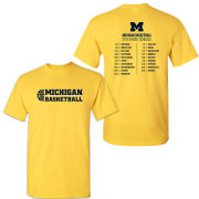 University of Michigan Basketball Maize 2018-2019 Season Tee