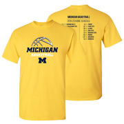University of Michigan Basketball 2019-2020 Schedule Tee