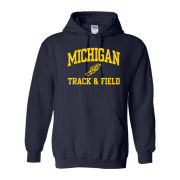 University of Michigan Track & Field Navy Hooded Sweatshirt