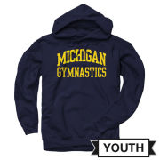 University of Michigan Gymnastics Youth Navy Hooded Sweatshirt