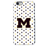 UnCommon University of Michigan White Polka Dot Apple iPhone 6 Case