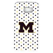 UnCommon University of Michigan White Polka Dot Samsung Galaxy S6 Case