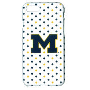 UnCommon University of Michigan White Polka Dot Apple iPhone 7 and iPhone 8 Case