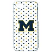 UnCommon University of Michigan White Polka Dot Apple iPhone 7 Case