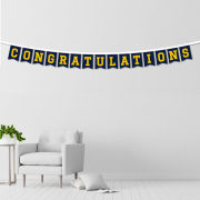 UBF University of Michigan ''Congratulations'' Banner String