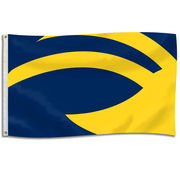 University Flag and Blanket University of Michigan Winged Helmet 3x5 Flag