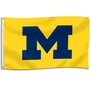 UBF University of Michigan Yellow 3x5 Block M Flag